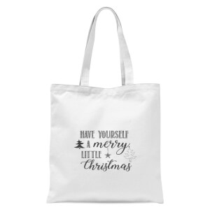 Merry little Christmas Tote Bag - White