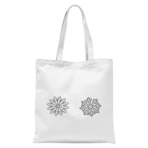 Flakes Tote Bag - White