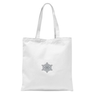 Snowflake Tote Bag - White