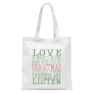 Love Christmas Tote Bag - White