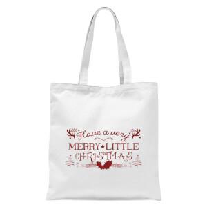 Very Merry Tote Bag - White