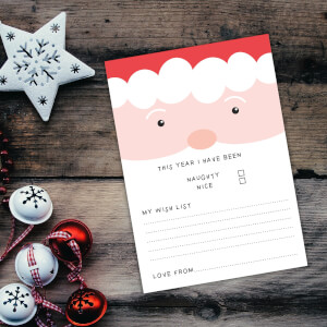 Santa Face This Year I Have Been Nice Art Print - A4