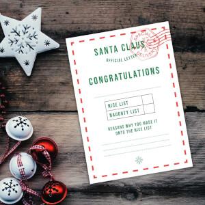 Santa Claus Official Letter Art Print - A4