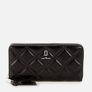 Marc Jacobs Women's The Quilted Softshot Wallet - Black