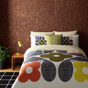 Orla Kiely Placement Flower Tile Duvet Cover - White