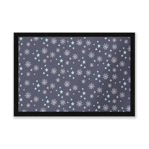 Snowflakes At Night Entrance Mat
