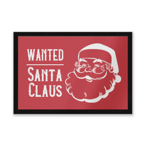 Wanted Santa Claus Entrance Mat