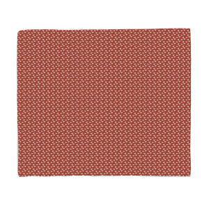 Red Festive Pattern Fleece Blanket