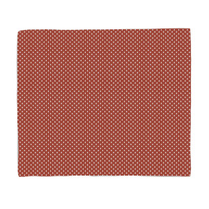 Red Tree Pattern Fleece Blanket