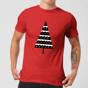 Dark Christmas Tree Men's T-Shirt - Red