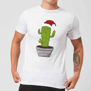Merry Cactus Men's T-Shirt - White