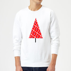 Spotty Christmas Tree Sweatshirt - White