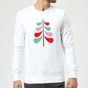 Simple Christmas Tree Sweatshirt - White