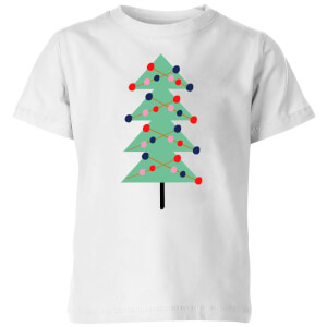 Christmas Tree With Lights Kids' T-Shirt - White