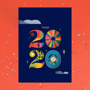 Happy 2020 Greetings Card