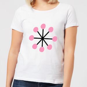 Pink Snowflake Women's T-Shirt - White