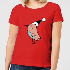 Festive Robin Women's T-Shirt - Red