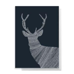 Aztec Night Reindeer Greetings Card