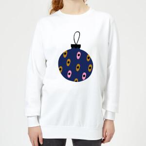 Spotty Bauble Women's Sweatshirt - White