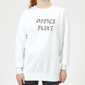 Office Flirt Women's Sweatshirt - White