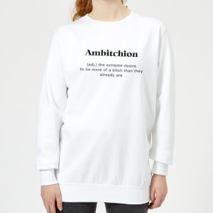 Ambitchion Women's Sweatshirt - White