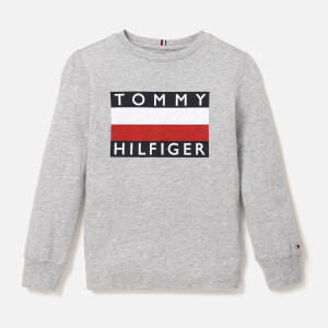 Tommy Hilfiger Boys' Essential Long Sleeve T-Shirt - Grey Heather