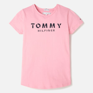 Tommy Hilfiger Girls' Essential Tommy T-Shirt - Sea Pink