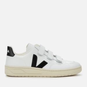 Veja Women's V Lock Leather Trainers - Extra White/Black