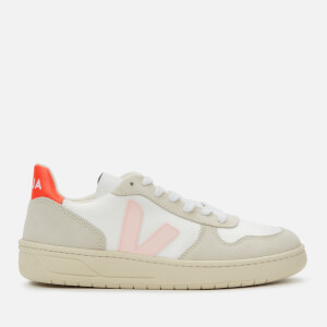 Veja Women's V-10 B-Mesh Trainers - White/Petale/Orange Fluo