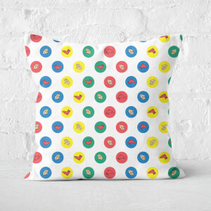 Twister White Square Cushion