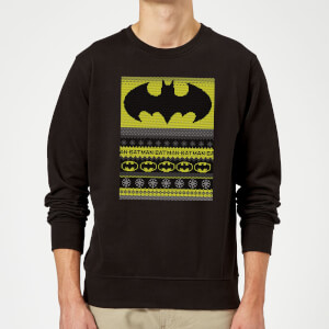Batman Christmas Sweatshirt - Black