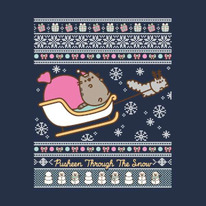 Pusheen Core Pusheen Through The Snow Christmas Sweatshirt - Navy