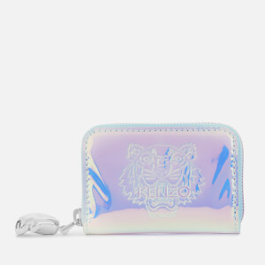 KENZO Women's Iridescent Zip Coin Purse - white
