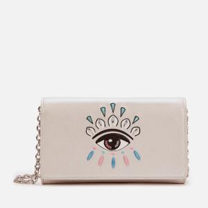 KENZO Women's Eye Wallet On Chain - Silver