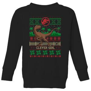 Jurassic Park Clever Girl  Kids' Sweatshirt - Black