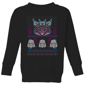 Decepticons Classic Ugly Knit Kids' Christmas Sweater - Black