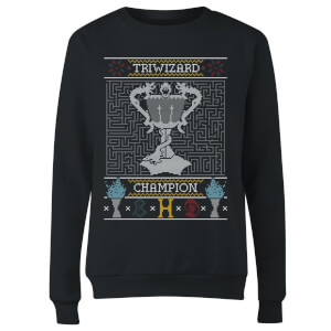 Triwizard Champion Women's Christmas Sweatshirt - Black