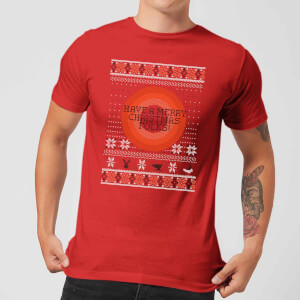 Looney Tunes Knit Men's Christmas T-Shirt - Red