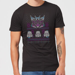 Decepticons Classic Ugly Knit Men's Christmas T-Shirt - Black