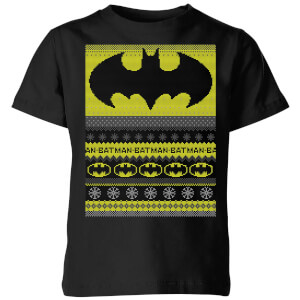 Batman Kids' Christmas T-Shirt - Black