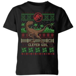 Jurassic Park Clever Girl  Kids' T-Shirt - Black
