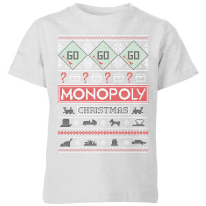 Monopoly Kids' Christmas T-Shirt - Grey