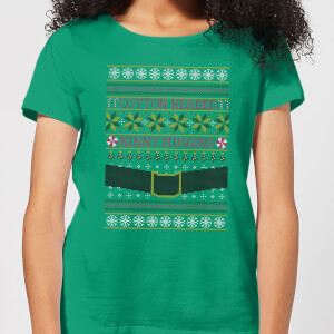 T-Shirt Elf Christmas - Kelly Green - Donna