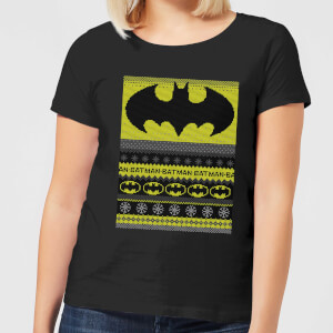 Batman Women's Christmas T-Shirt - Black