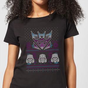 Decepticons Classic Ugly Knit Women's Christmas T-Shirt - Black