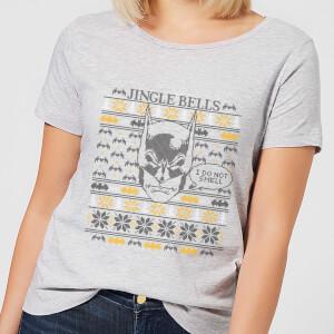 T-Shirt Batman I Do Not Smell Christmas - Grigio - Donna