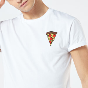 Pizza Unisex Embroidered T-Shirt - White