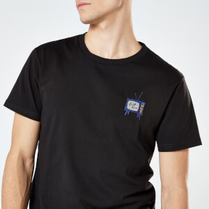 Classic TV Unisex Embroidered T-Shirt - Black