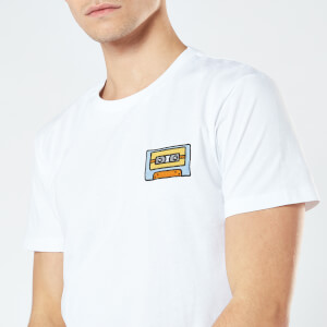 Cassette Tape Unisex Embroidered T-Shirt - White