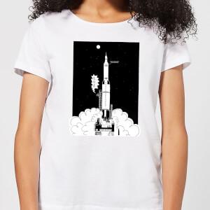 Modern Toss Space Argument Rocket Women's T-Shirt - White